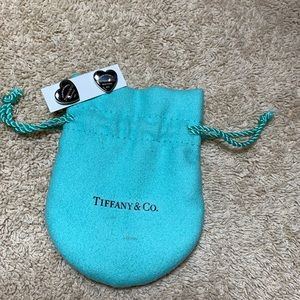 Authentic Tiffany & co 925 heart earring set